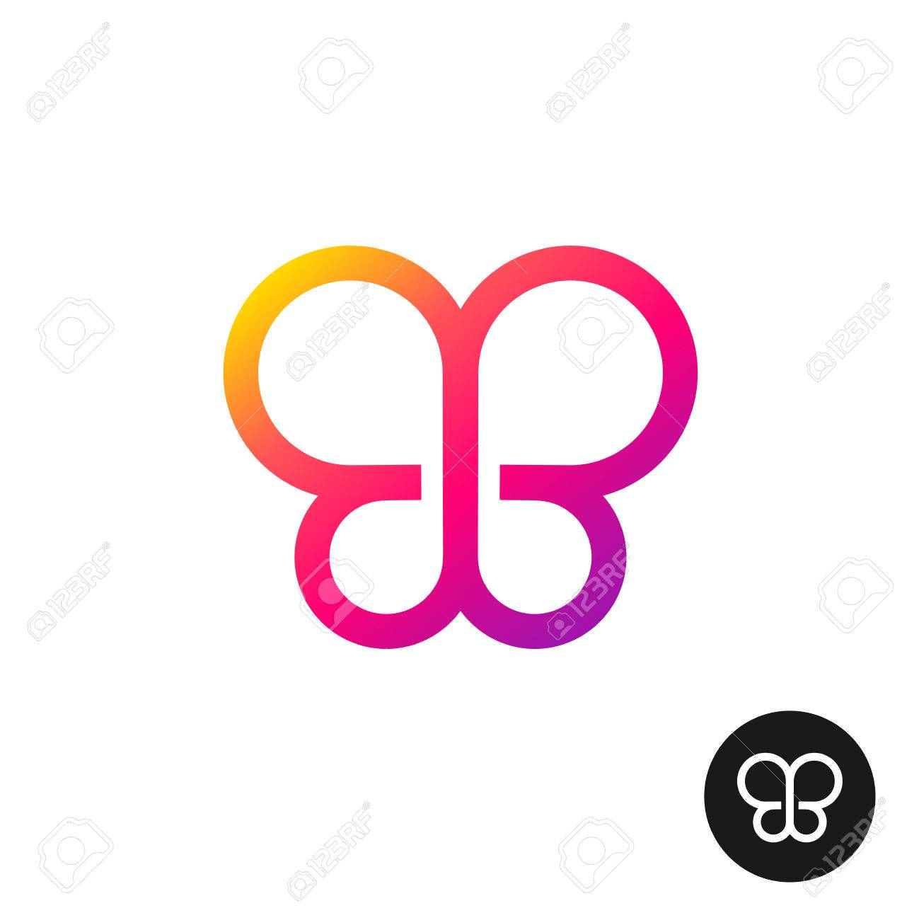 Colorful butterfly logo linear geometric style circles symbol colorful butterfly logo linear geometric style circles symbol stock vector 59667592 biocorpaavc Image collections