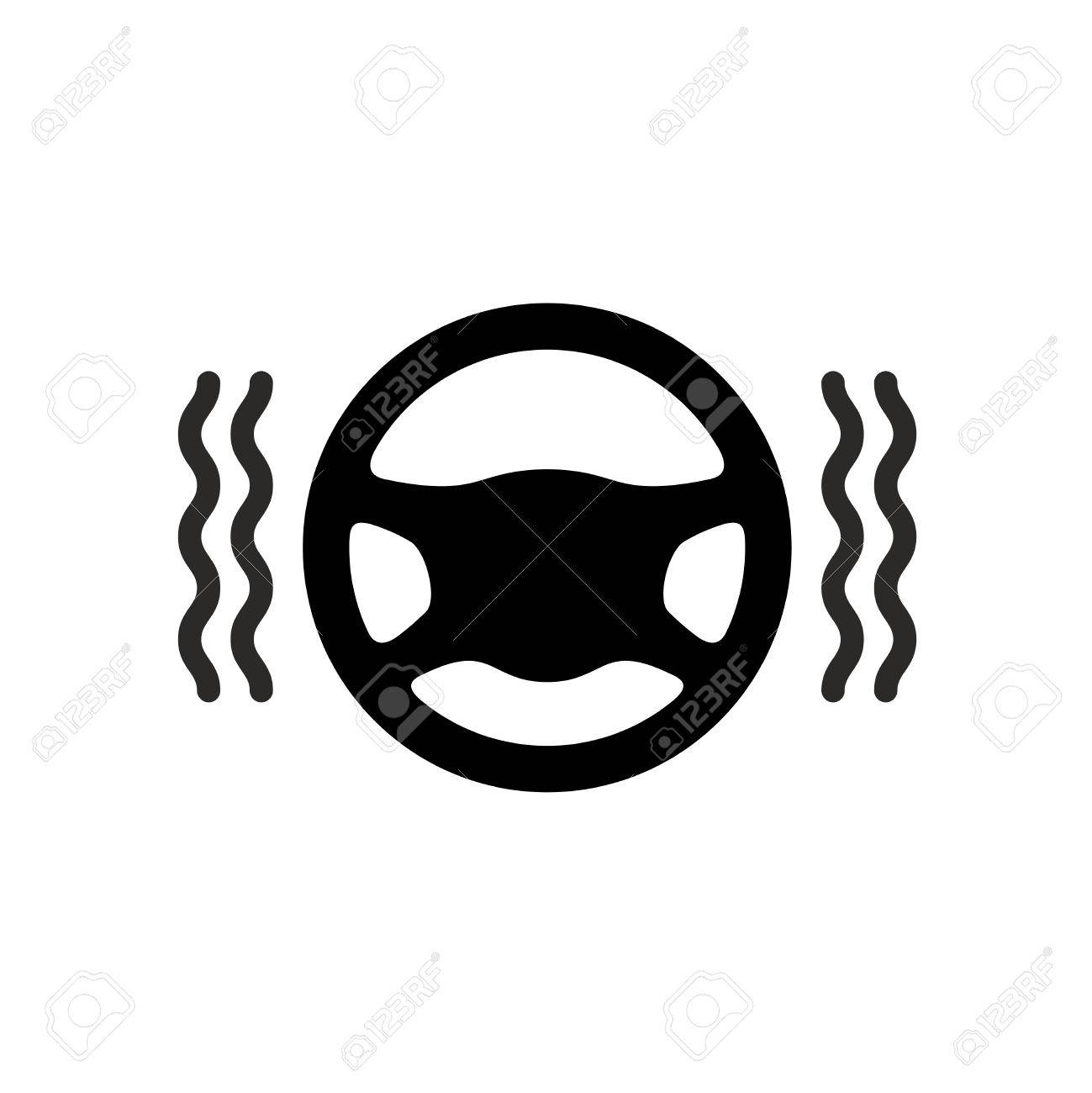 Driving Wheel Warmer Icon Black Silhouette Of Car Steering Wheel Royalty Free Cliparts Vectors And Stock Illustration Image 68870518