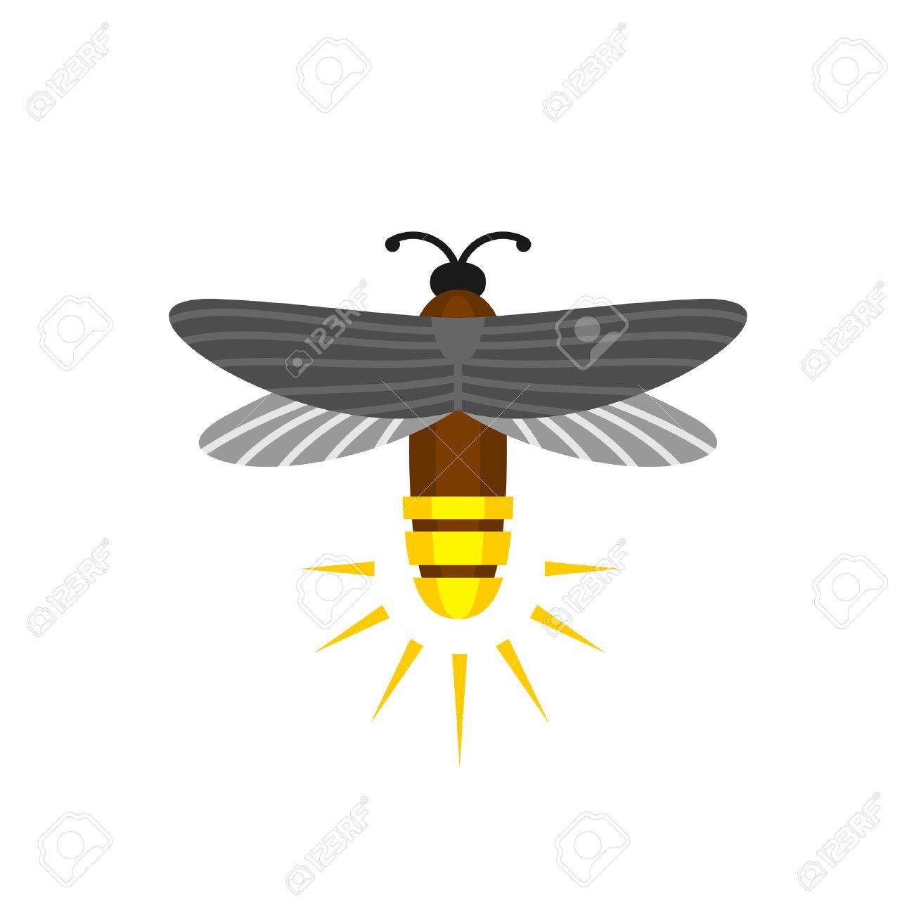 Aislado De La Luciérnaga De Dibujos Animados. Luciérnaga Insecto Del ...