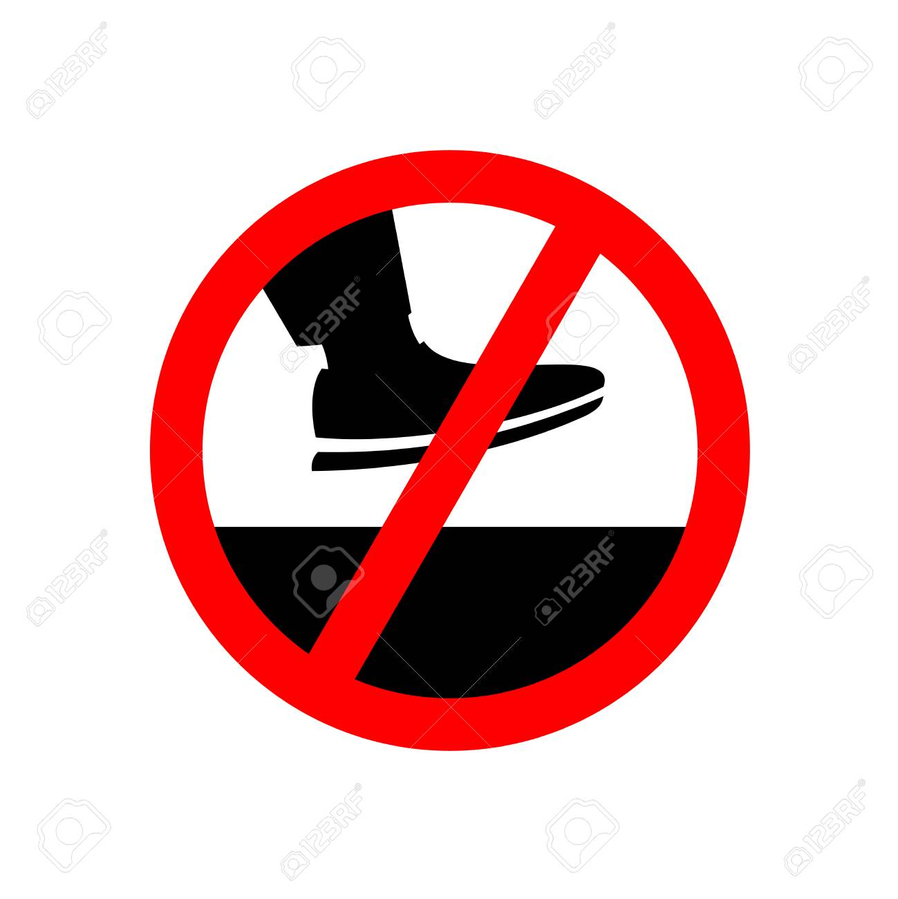 No step on the surface prohibition sign keep off foot symbol no step on the surface prohibition sign keep off foot symbol stock vector buycottarizona Choice Image