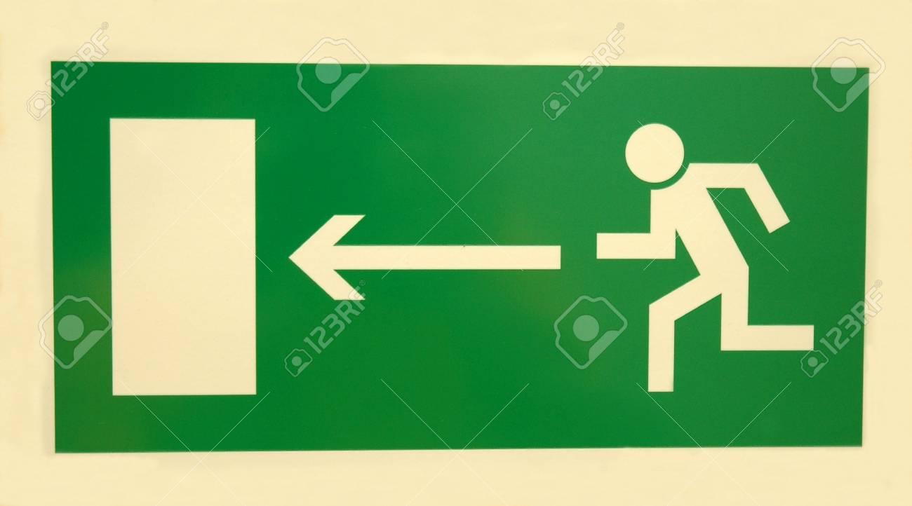 emergency  exit sign on white background Stock Photo - 6221157