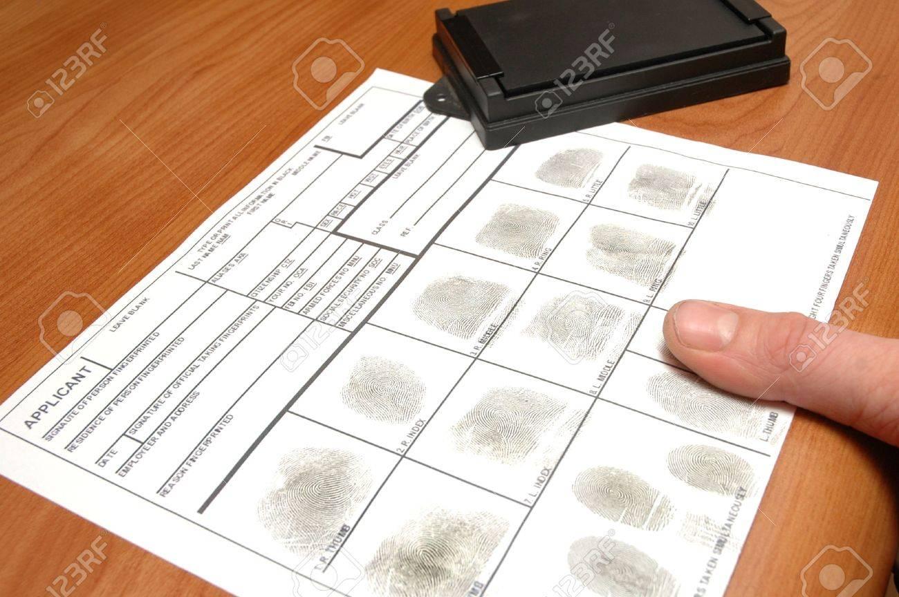 taking fingerprints on ID card Stock Photo - 7168714