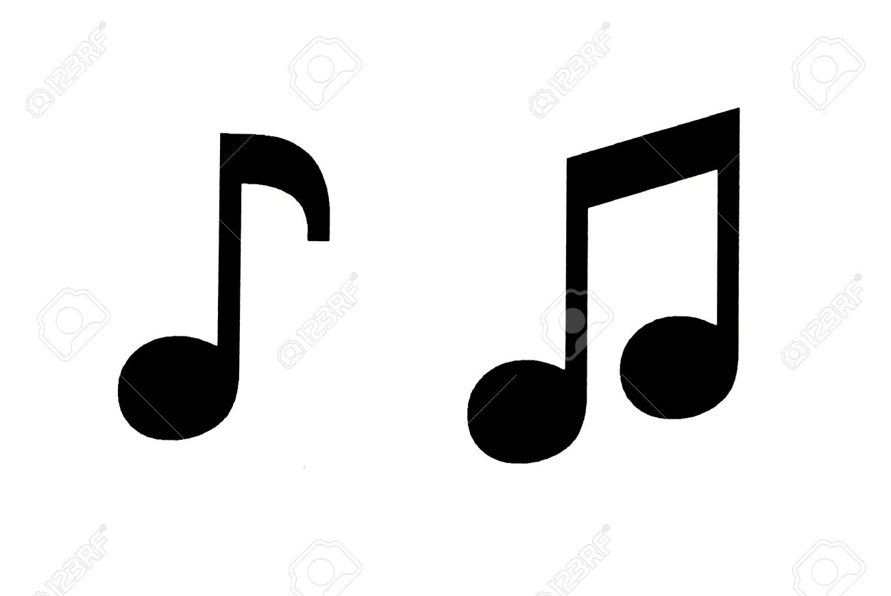 black symbols musical notes on white background stock photo picture