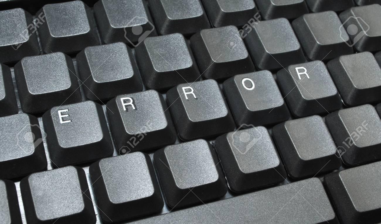 Error written on computer keyboard Stock Photo - 12235366