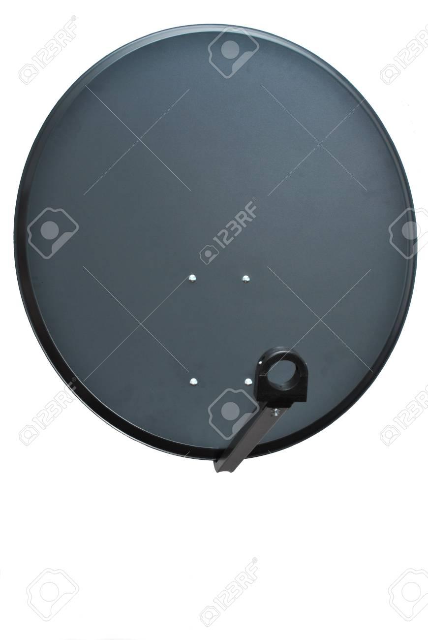 Satellite dish on white background Stock Photo - 12235370