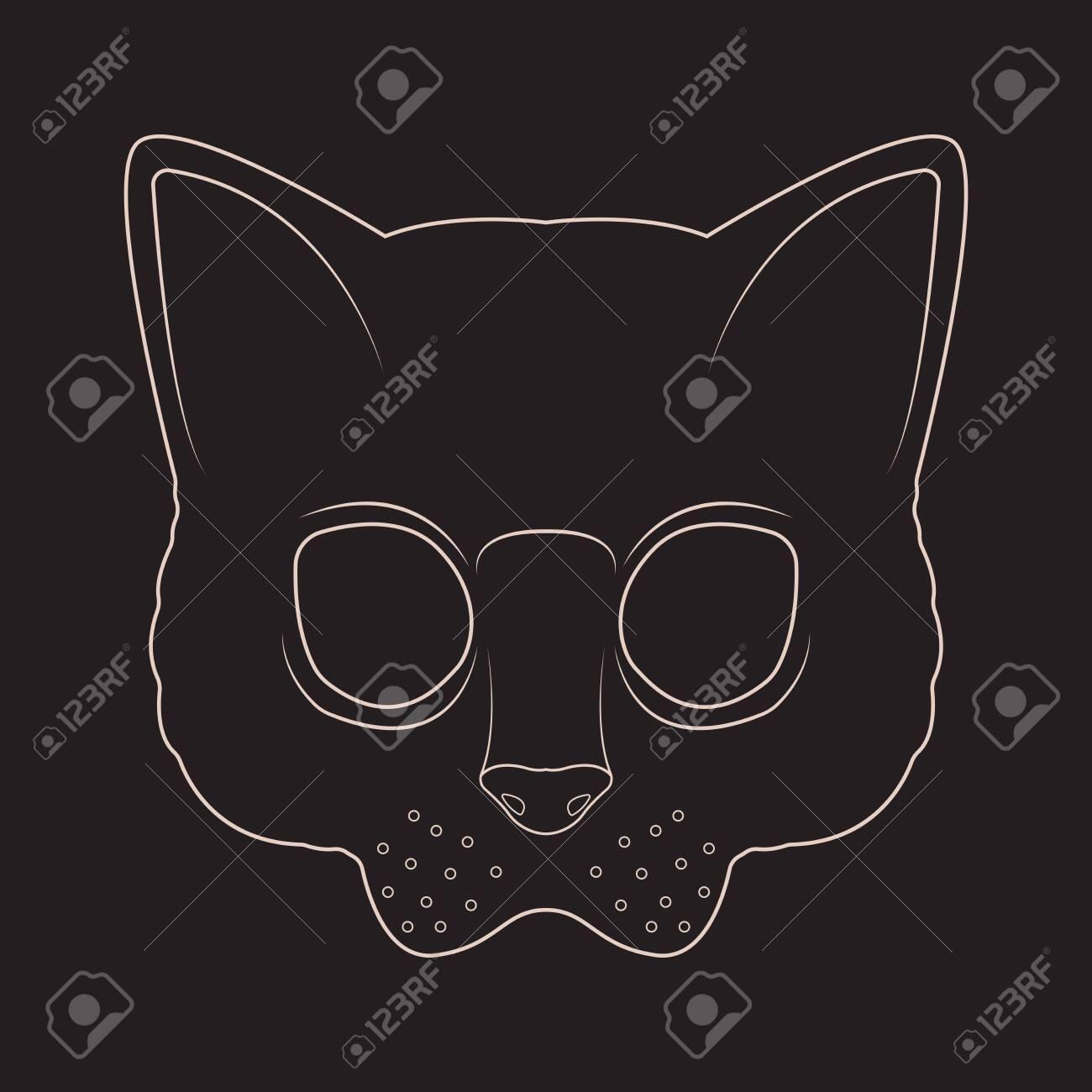 Cat msk line art - 151723090