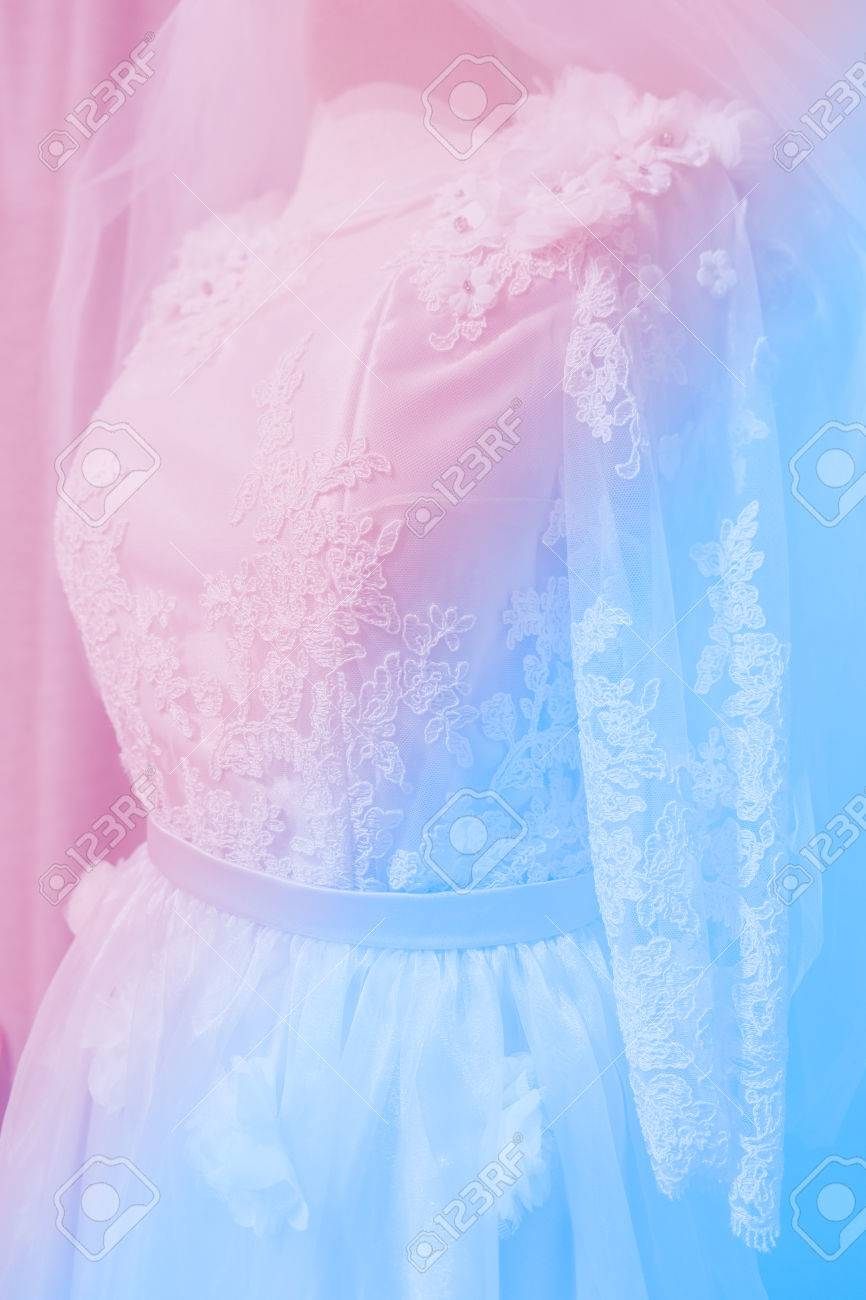 Soft Focus Wedding Dress Pastel Color Stock Photo Picture And