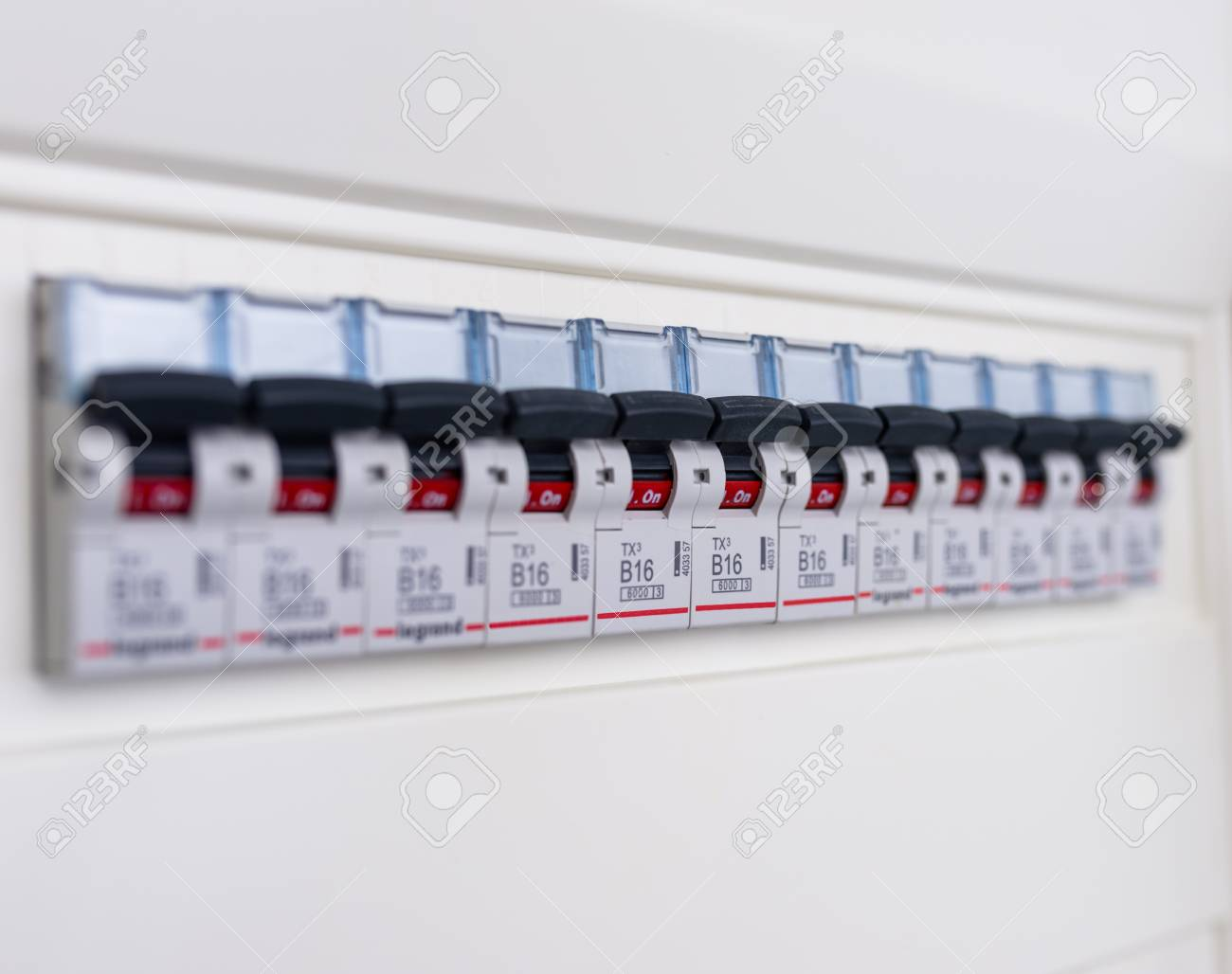 [SCHEMATICS_48EU]  Switches In Electrical Fuse Box. Many Black Circuit Breakers.. Stock Photo,  Picture And Royalty Free Image. Image 116641206. | Power Fuse Box |  | 123RF.com