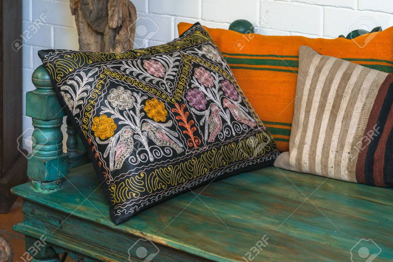 Arabic Style Furniture To Sit For Tea Stock Photo   73935003