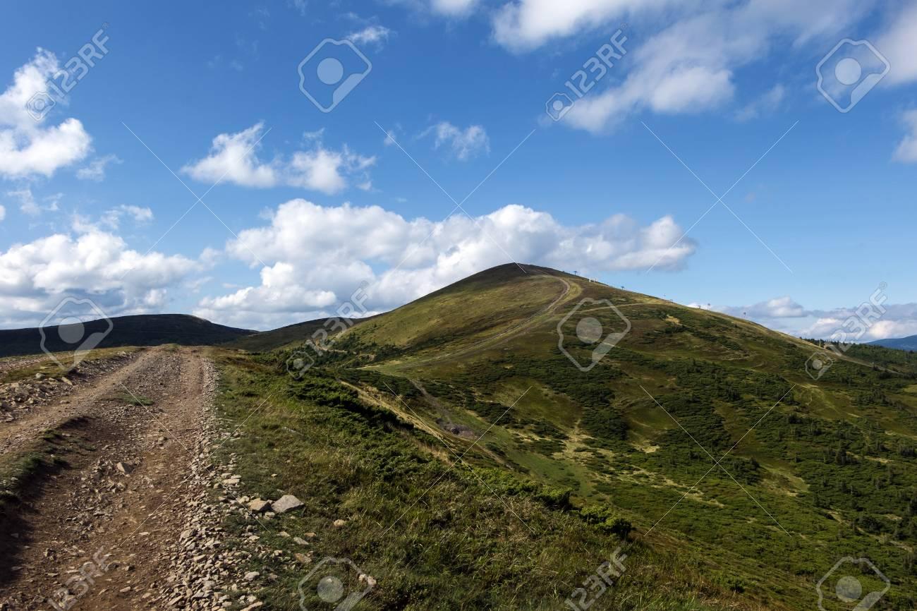 Path leading to the Stig mountain (Ukraine, Carpathians, Dragobrat)