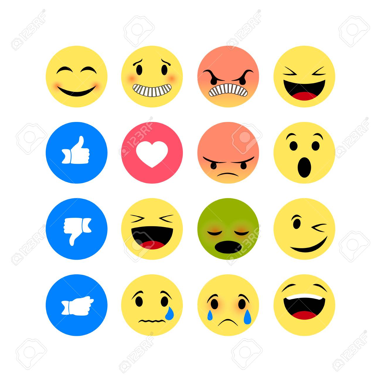 emotion icons isolated on white background funny emoji icon royalty free cliparts vectors and stock illustration image 111345509 emotion icons isolated on white background funny emoji icon