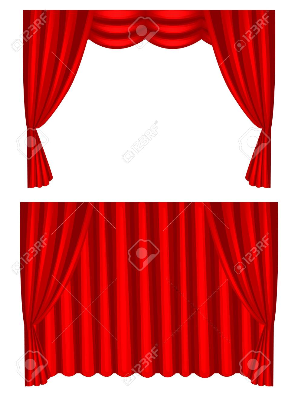 Red Velvet Curtains and Drapes Curtains Panels Nightclub or | Etsy