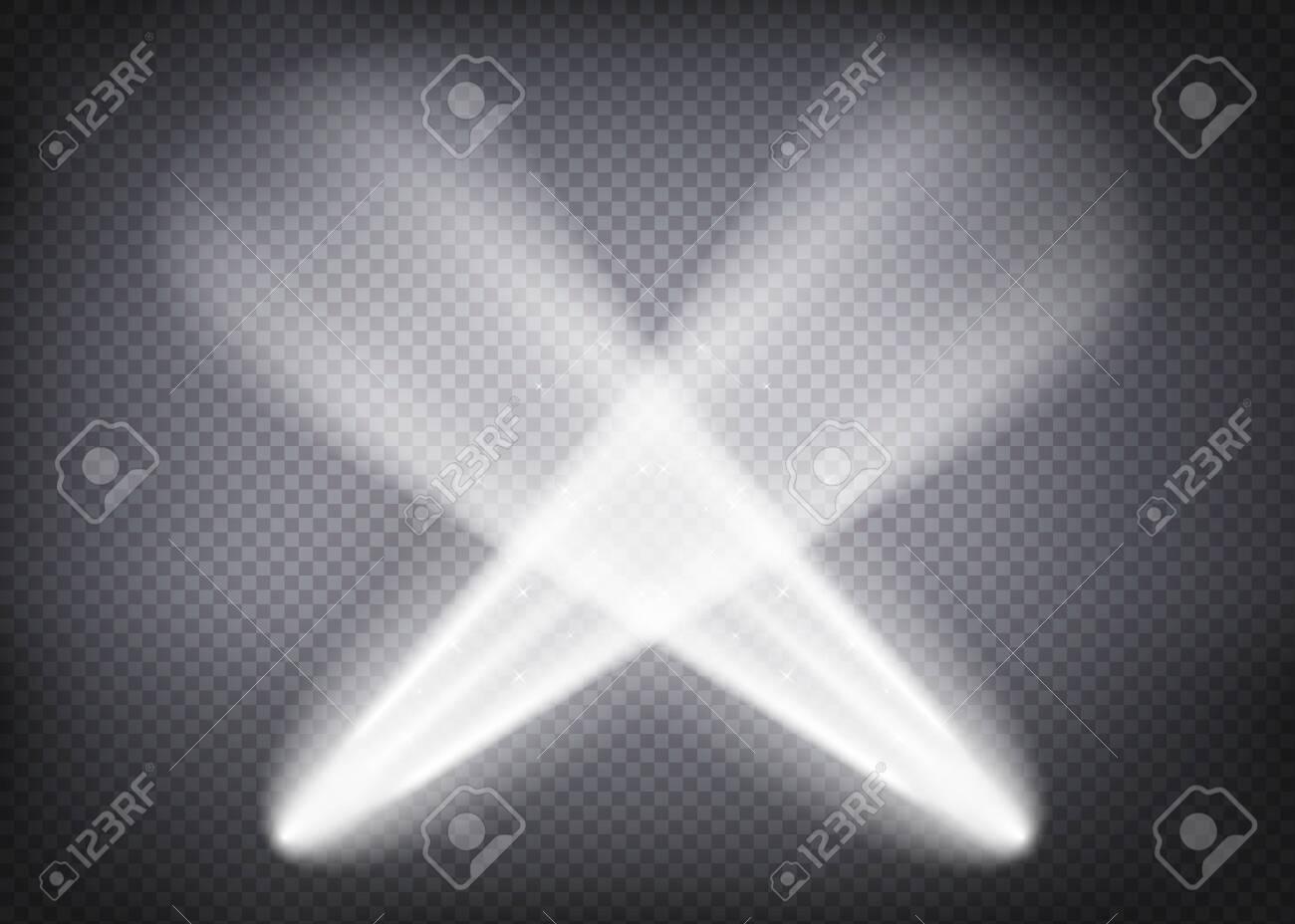 Scene illumination ,Bright lighting with spotlights. Vector illustration EPS - 145545799