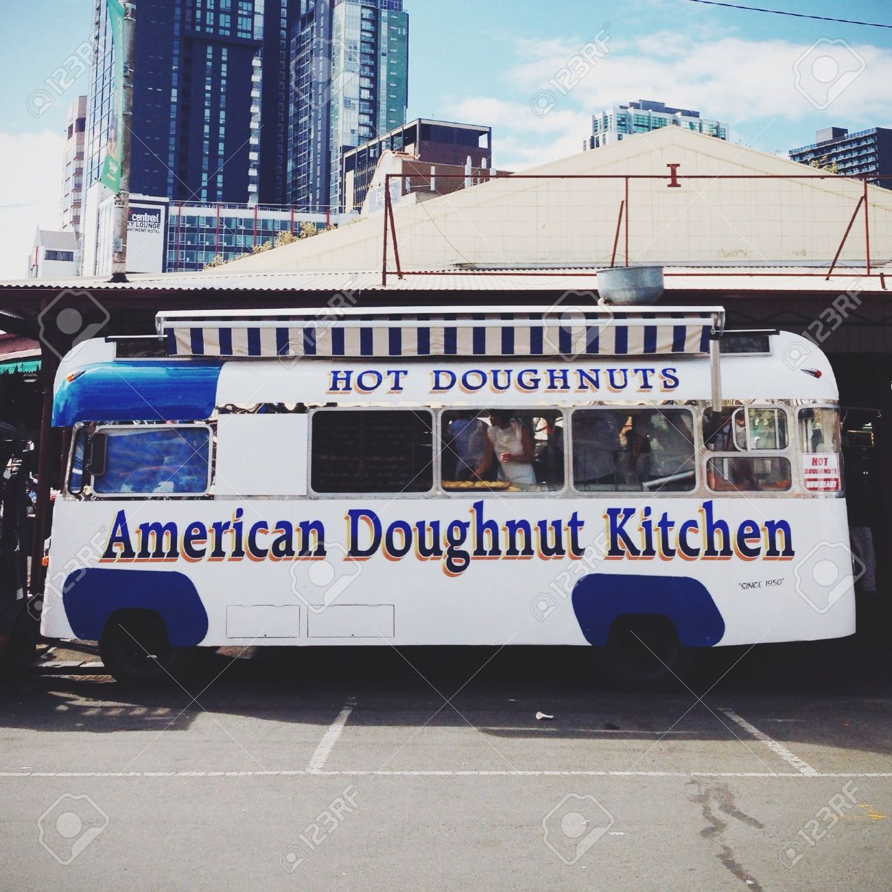 American Doughnut Kitchen At Melbourne Stock Photo, Picture And ...