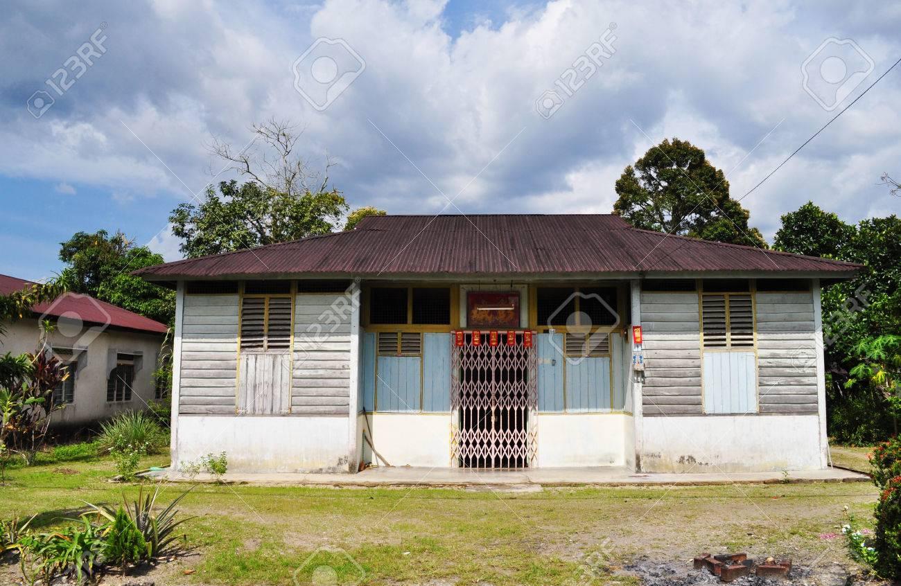 Malaysia village wooden house stock photo 28565559