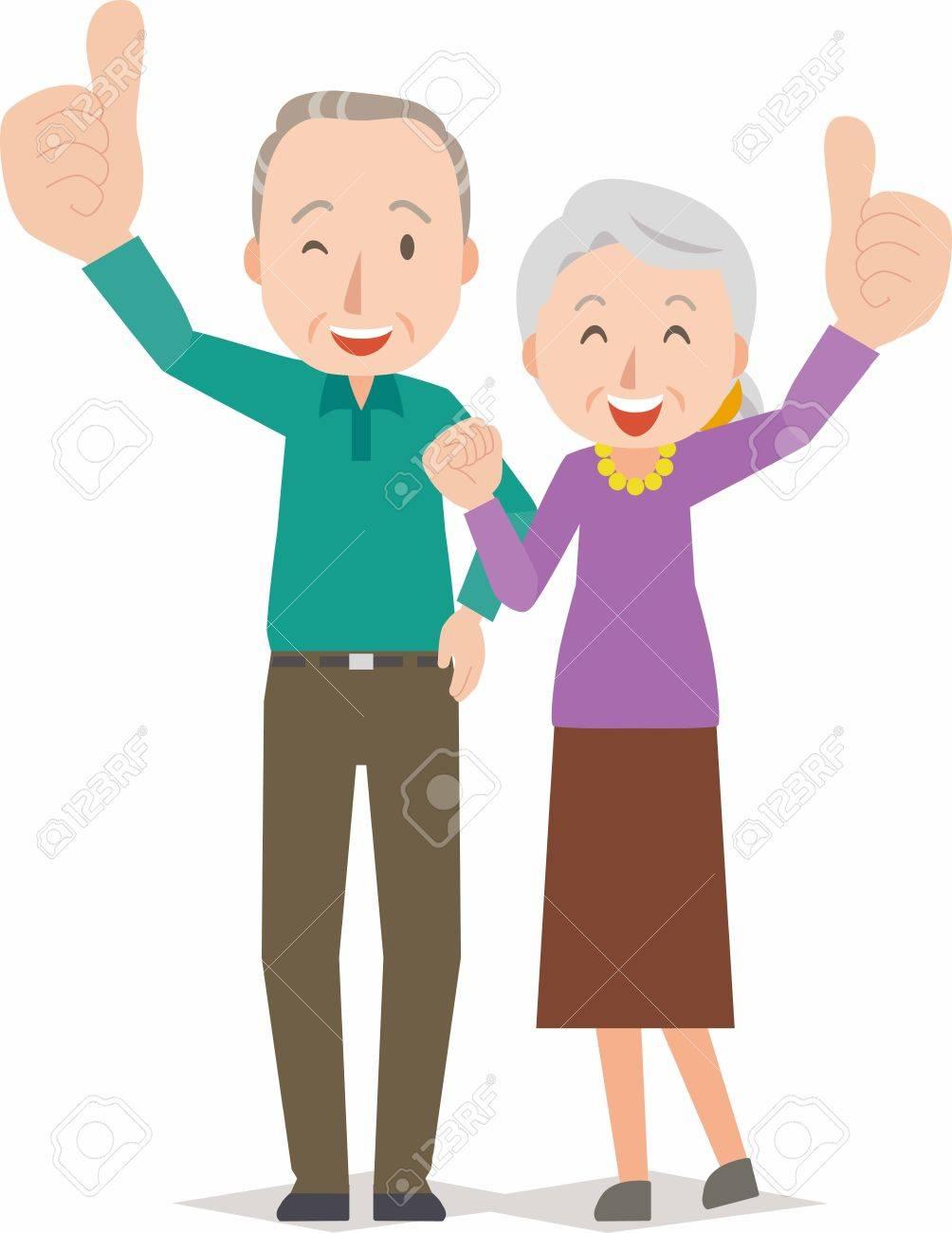 Happy smiling senior couple - 62103367