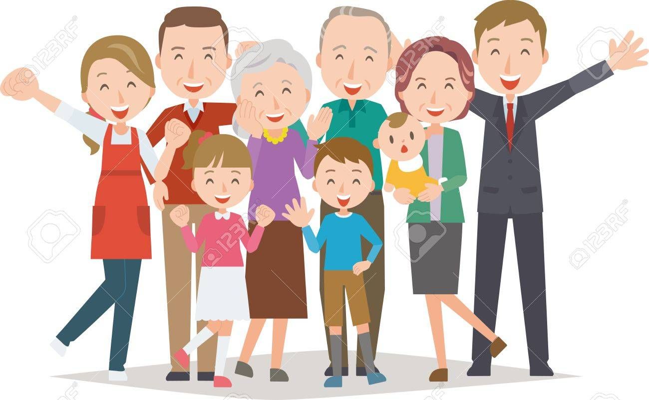 Healthy family(Four generations) - 66363983