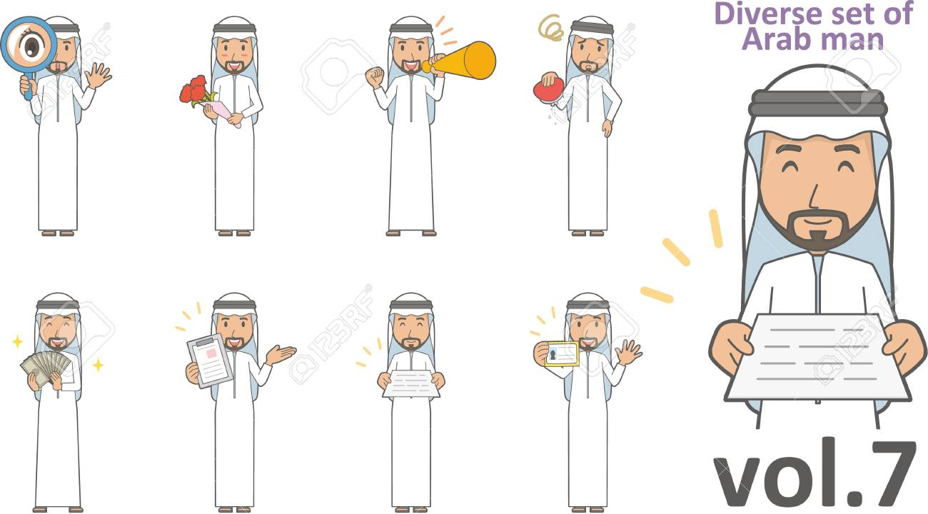 Diverse set of Arab man - 65349205