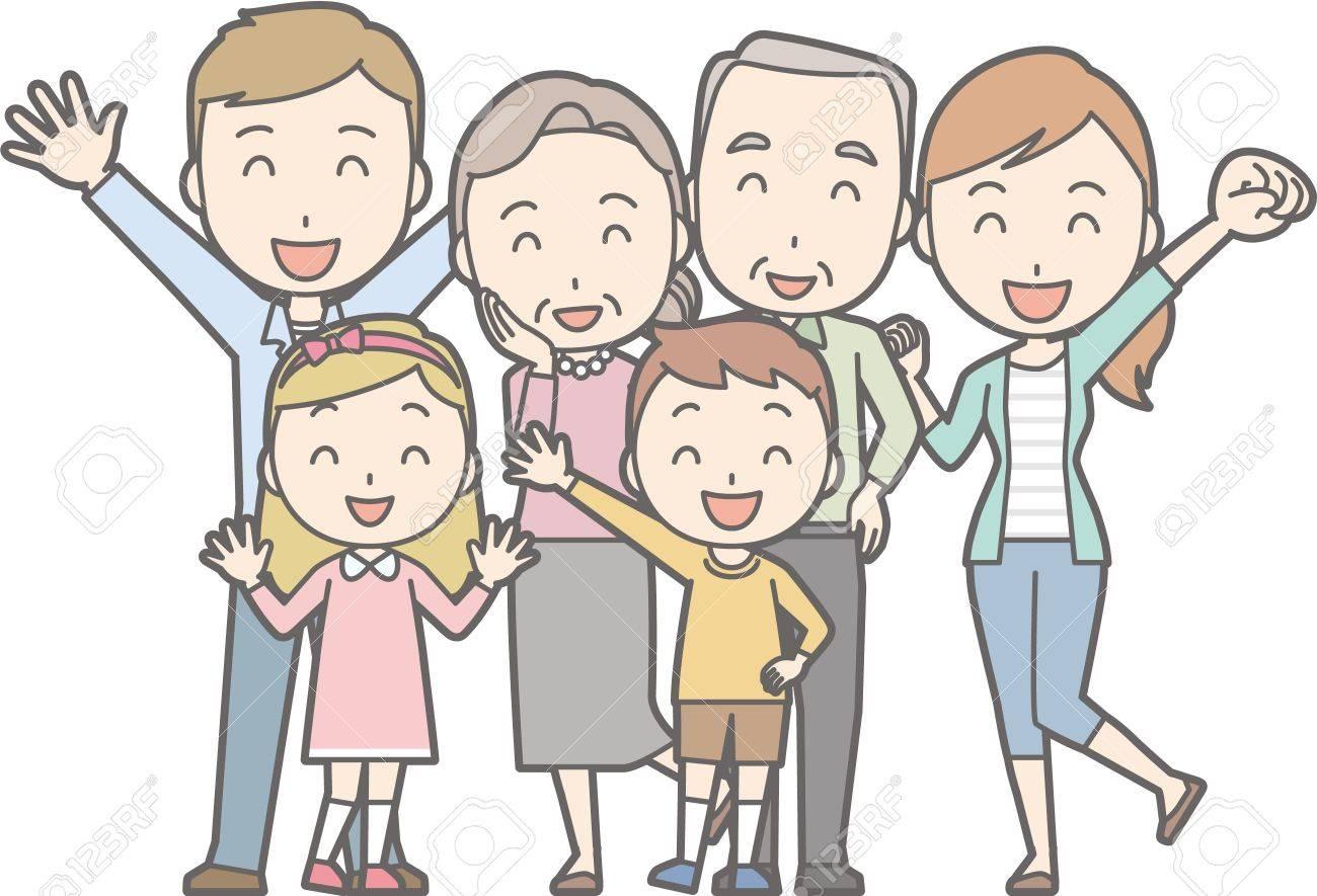 健康な家族 No02 63 Generations の家族のイラスト素材ベクタ