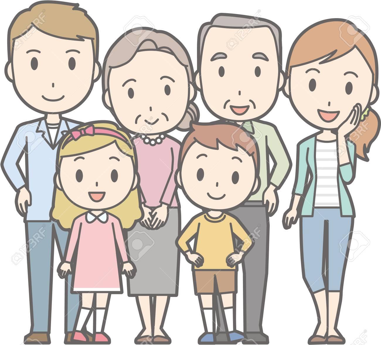 幸せな家族 No02 63 Generations の家族のイラスト素材ベクタ