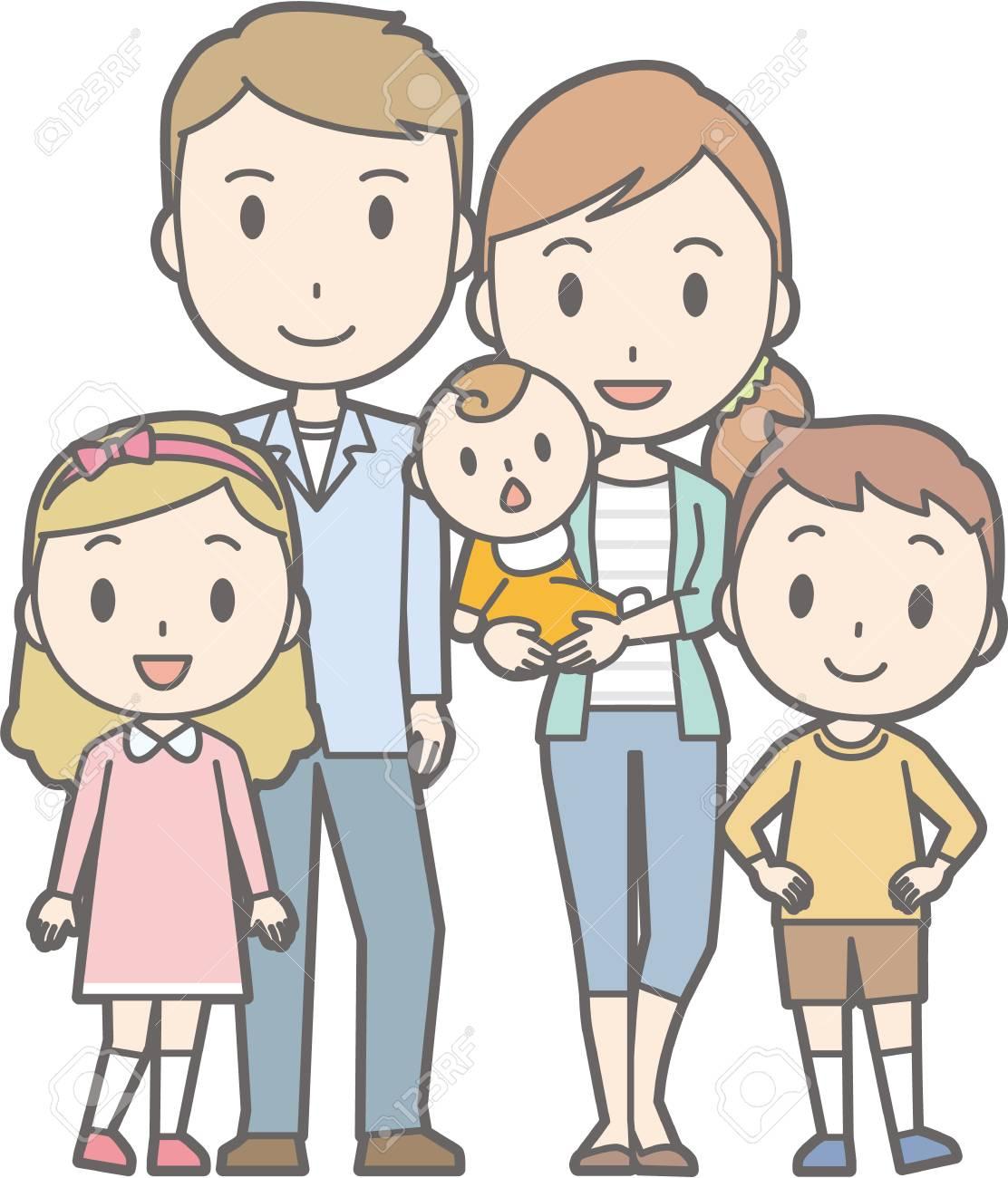 幸せな家族 No03 52 Generations の家族のイラスト素材ベクタ