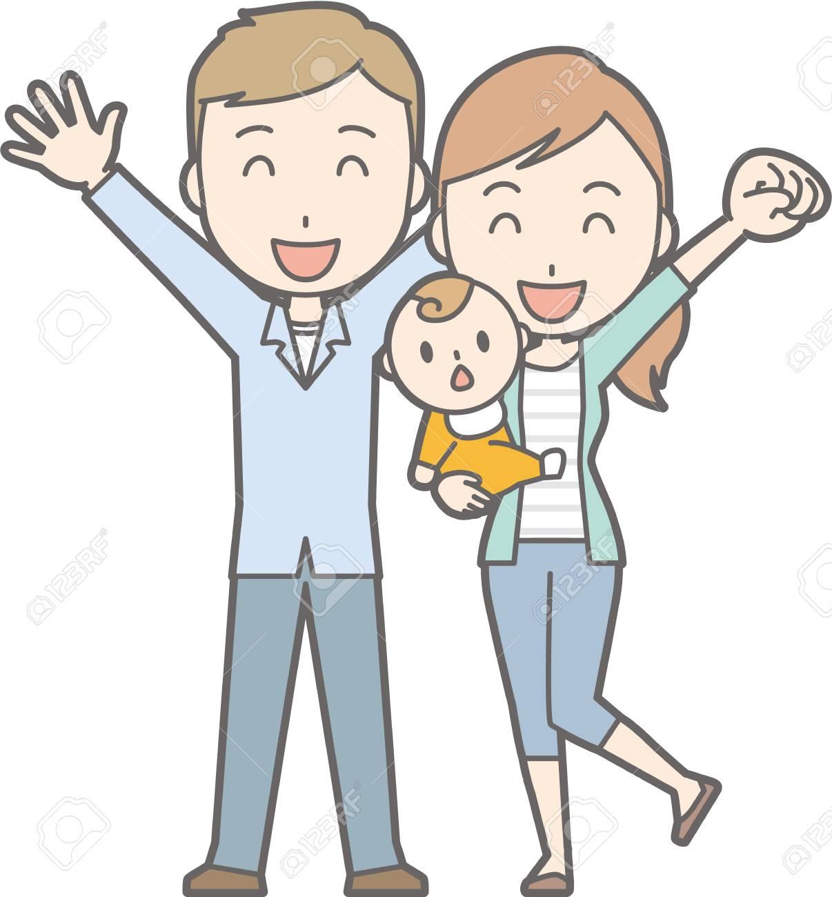 健康な家族 No04 32 Generations の家族のイラスト素材ベクタ
