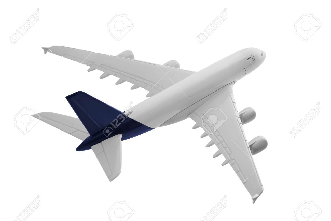 Avión Con Color Azul, Aislado Sobre Fondo Blanco. Fotos, Retratos ...
