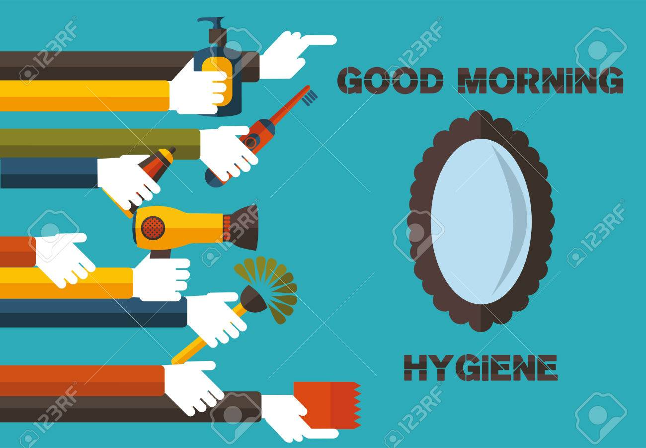 Good Morning Hygiene The Slogan Of Healthy Life Royalty Free Cliparts Vectors And Stock Illustration Image 51018613