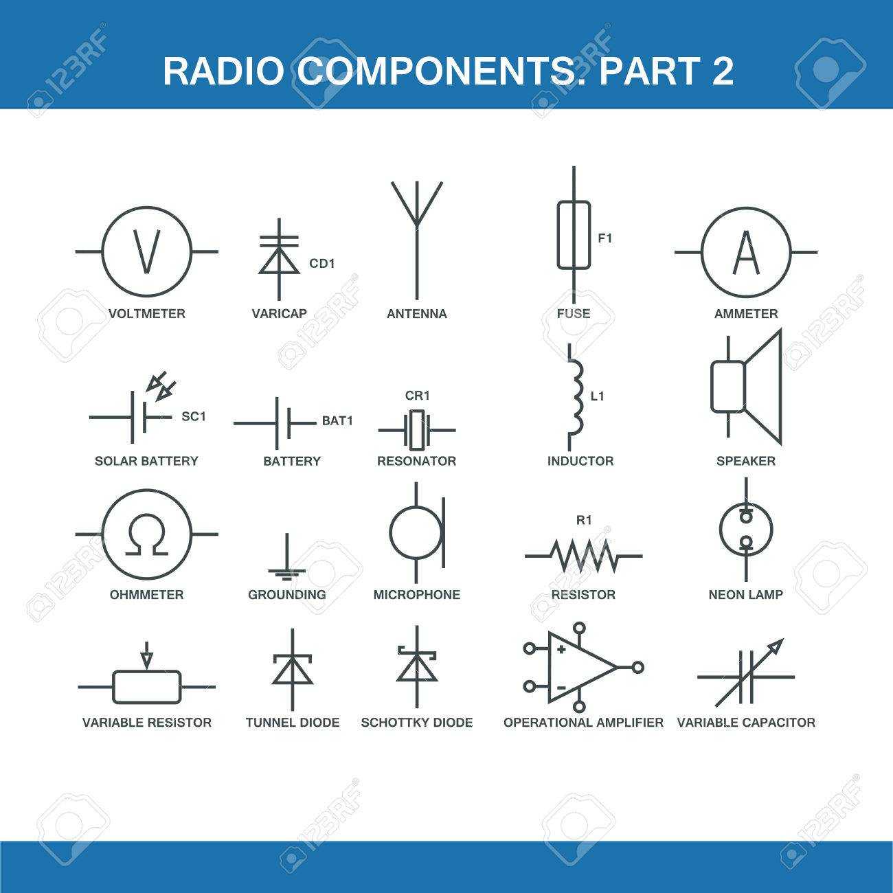 Phenomenal Designation Of Components In The Wiring Diagram In Vector Format Wiring Digital Resources Remcakbiperorg