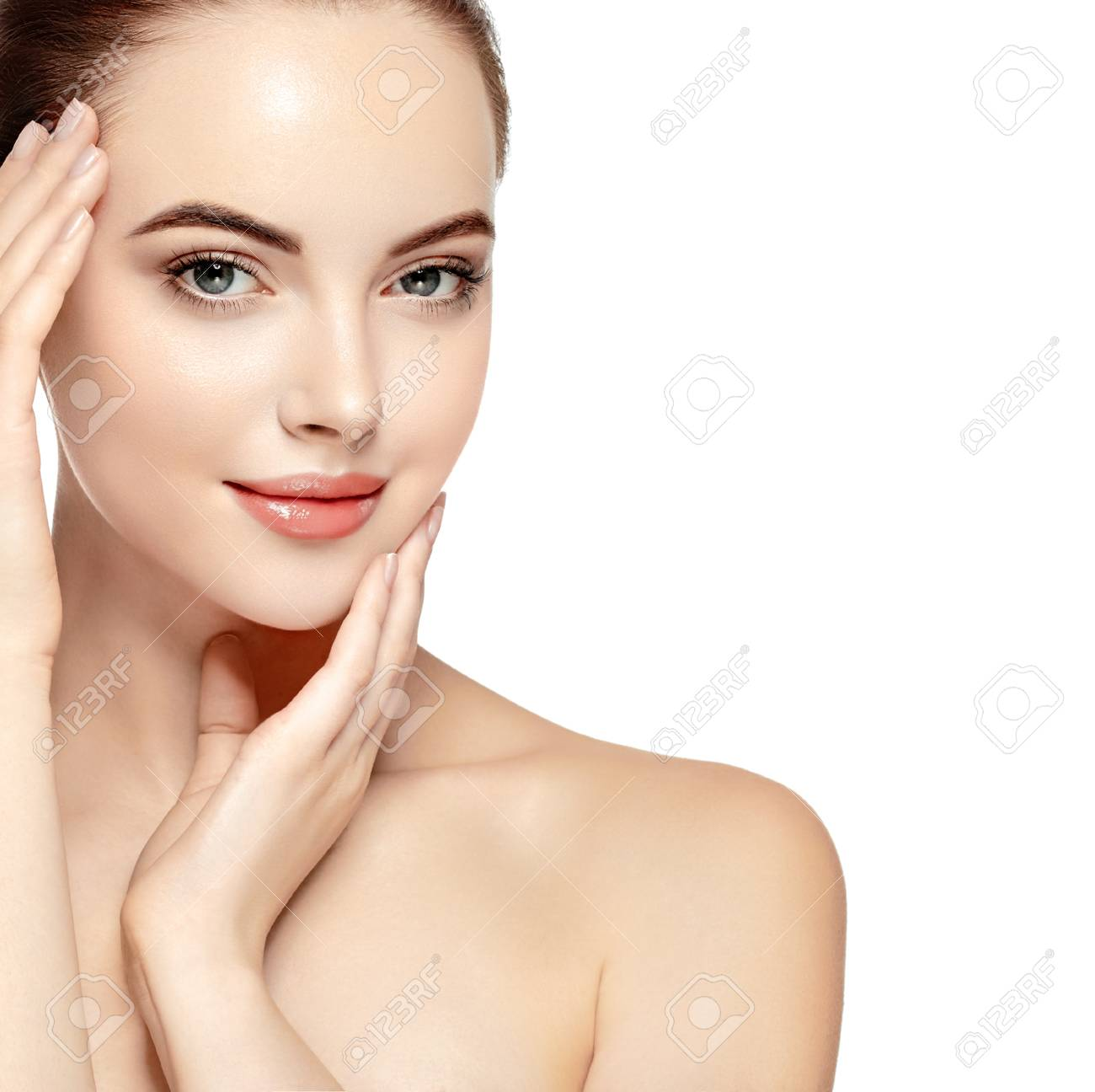 Beautiful Woman Face Portrait Beauty Skin Care Concept Fashion Stock Photo Picture And Royalty Free Image Image 79159462