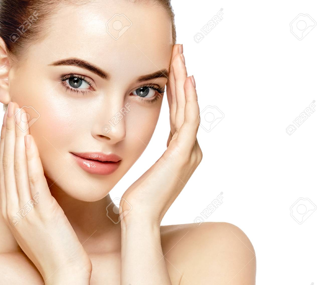 Beautiful Woman Face Portrait Beauty Skin Care Concept Fashion Stock Photo Picture And Royalty Free Image Image 79159714