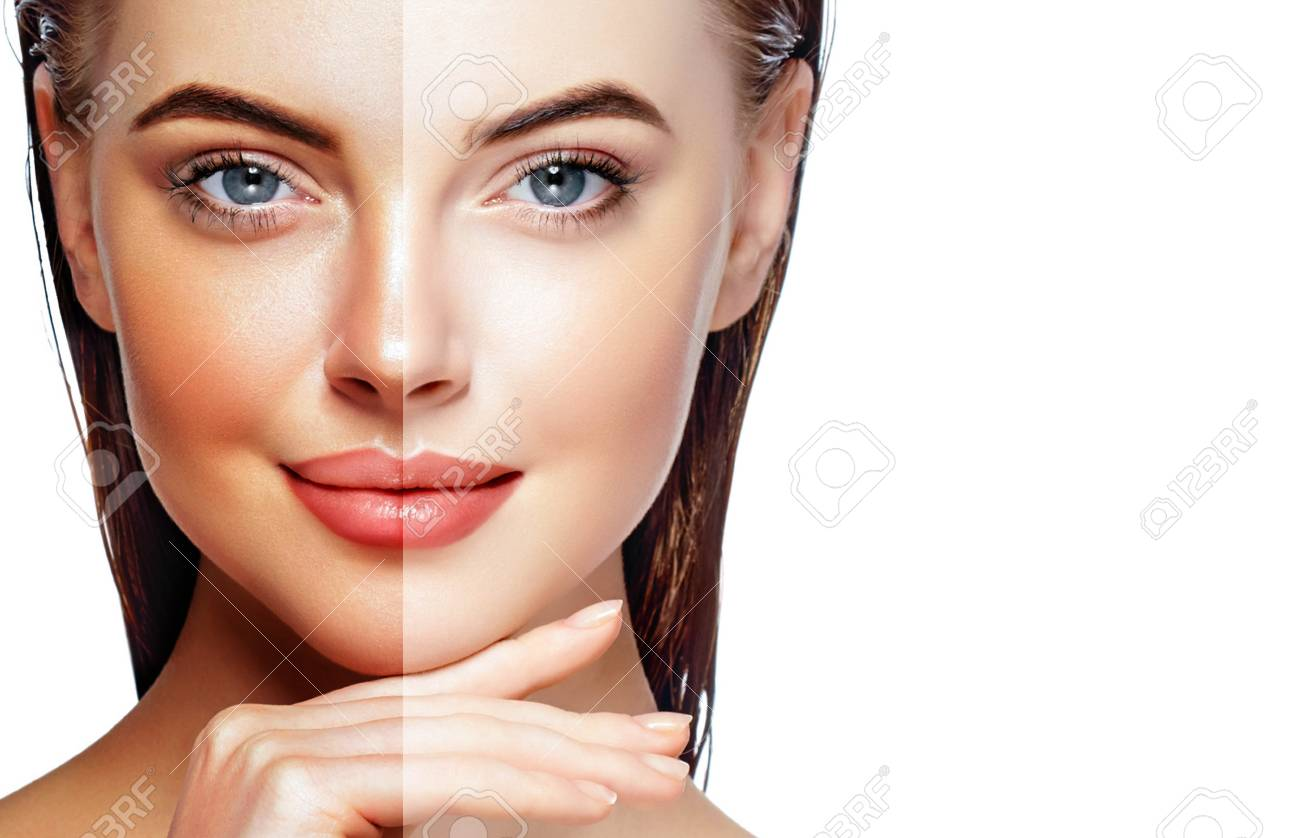 Beautiful Woman Face Portrait Beauty Skin Care Concept Fashion Stock Photo Picture And Royalty Free Image Image 110552467