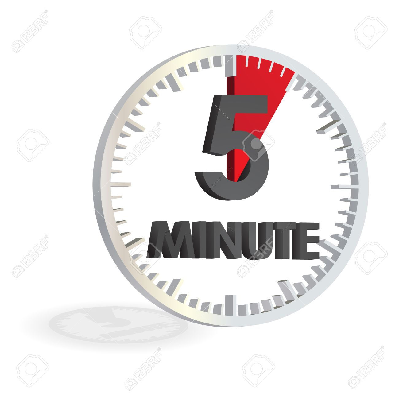 5 Minutes White Clock Timer Royalty Free Cliparts, Vectors, And ...