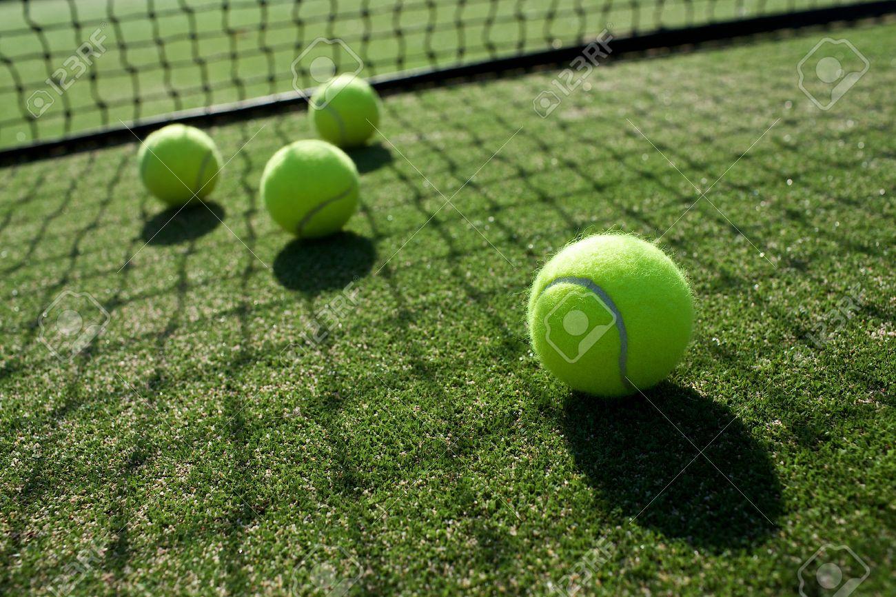 Tennis ball mascot stock photos tennis ball mascot stock photography - Tennis Ball Tennis Balls On Tennis Grass Court Stock Photo