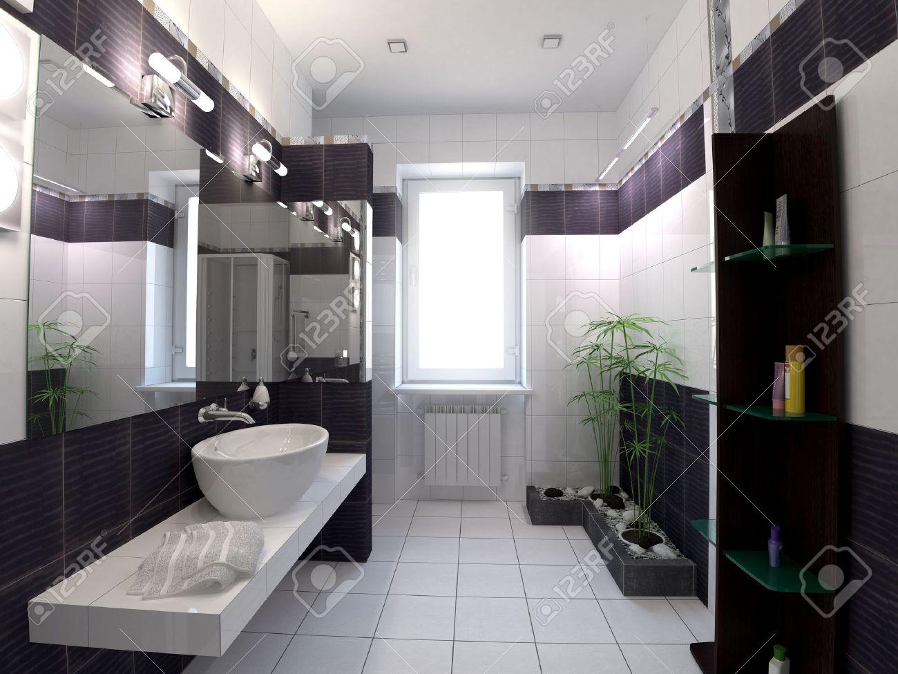 Salle De Bains Style Hammam ~ salle de bain style zen murale dans une salle de bain au style zen