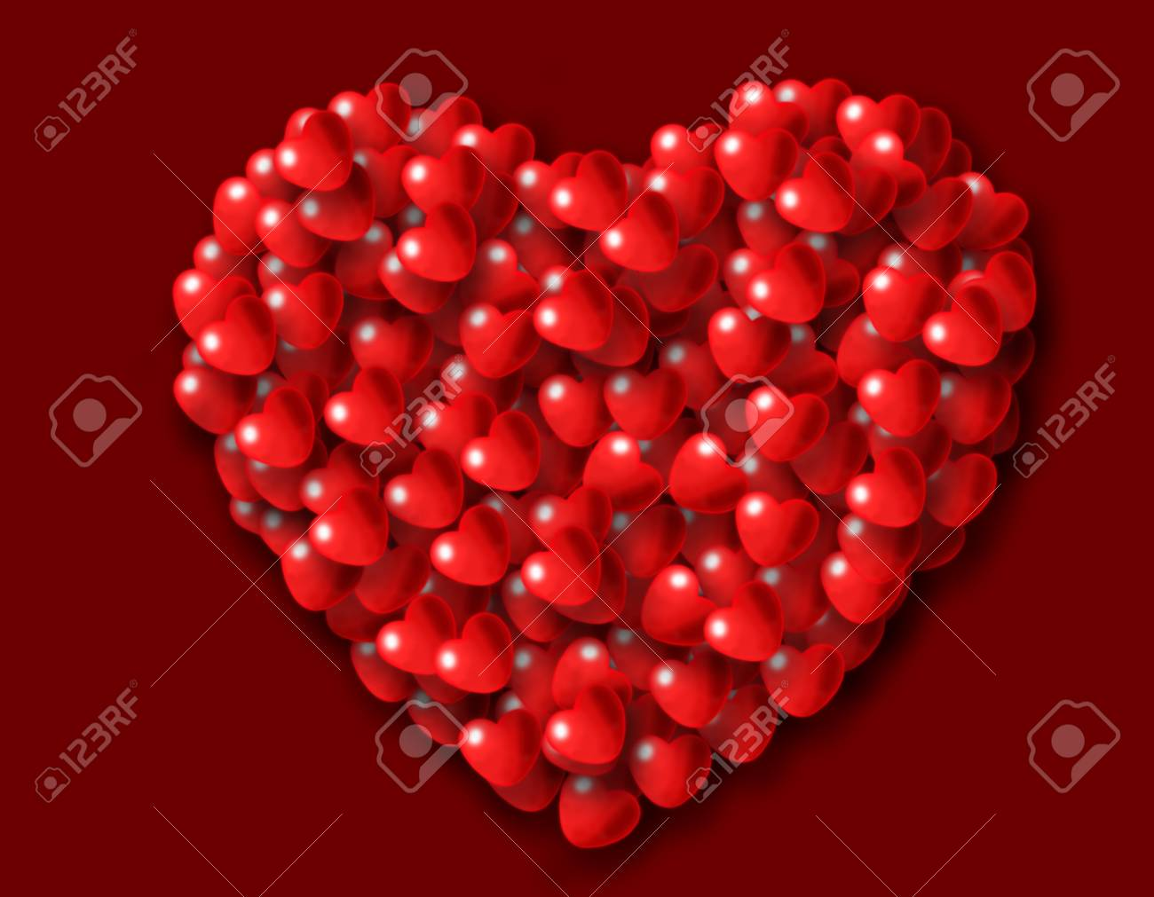 Painted Valentine Stock Photo - 12385489