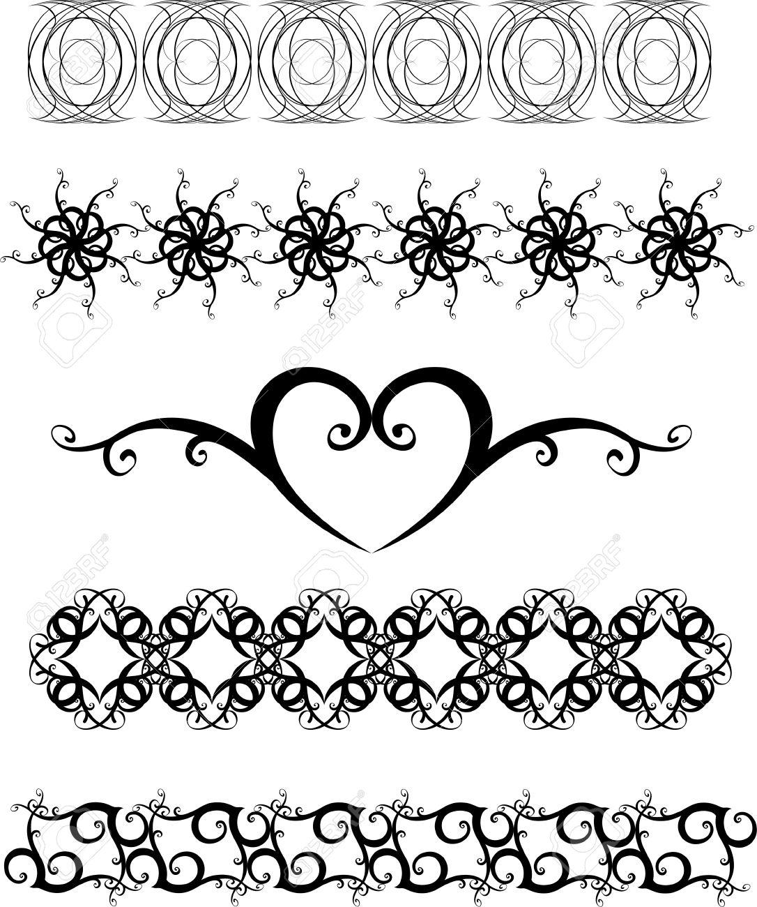 Black and white ornaments - Original Black And White Decorative Ornaments Stock Vector 4962666