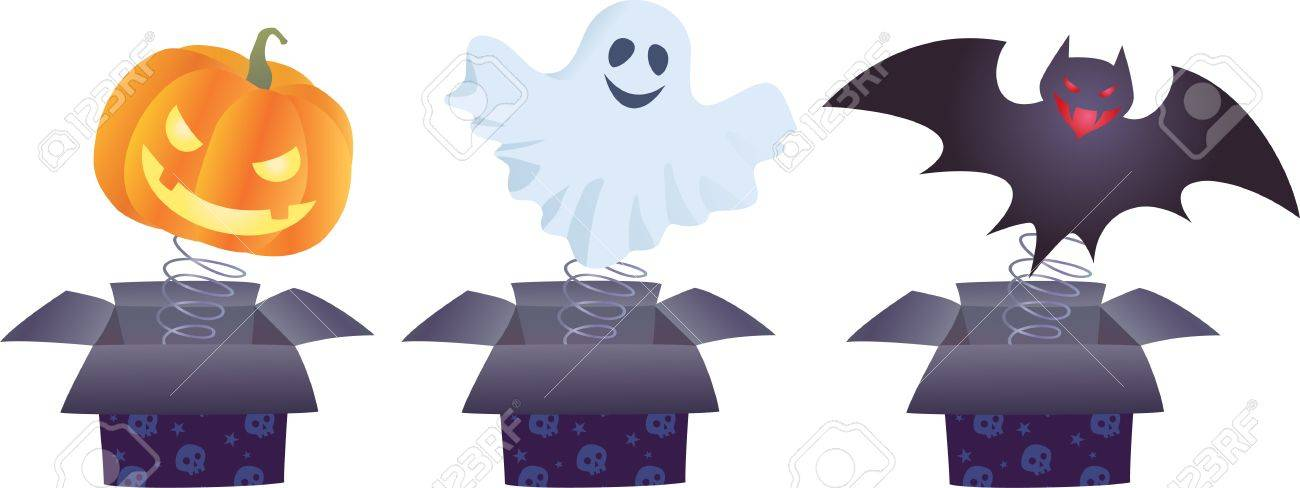Color Image Of Halloween Jack-in-the-boxes Royalty Free Cliparts ...