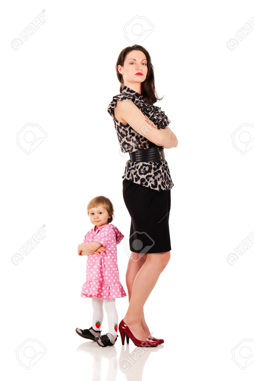 Back to back with business mommy Stock Photo - 10893481