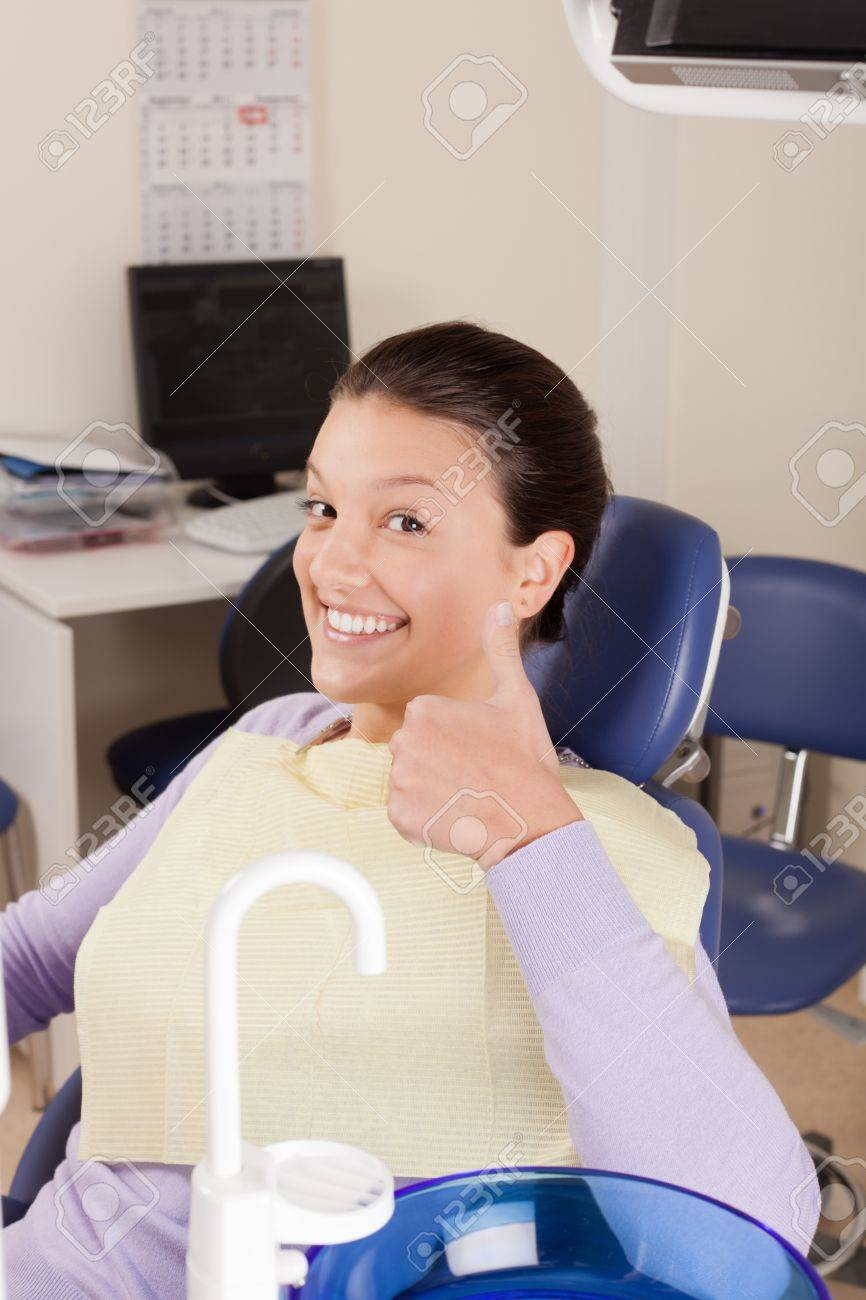 Young lady after stomatology procedures Stock Photo - 11119314
