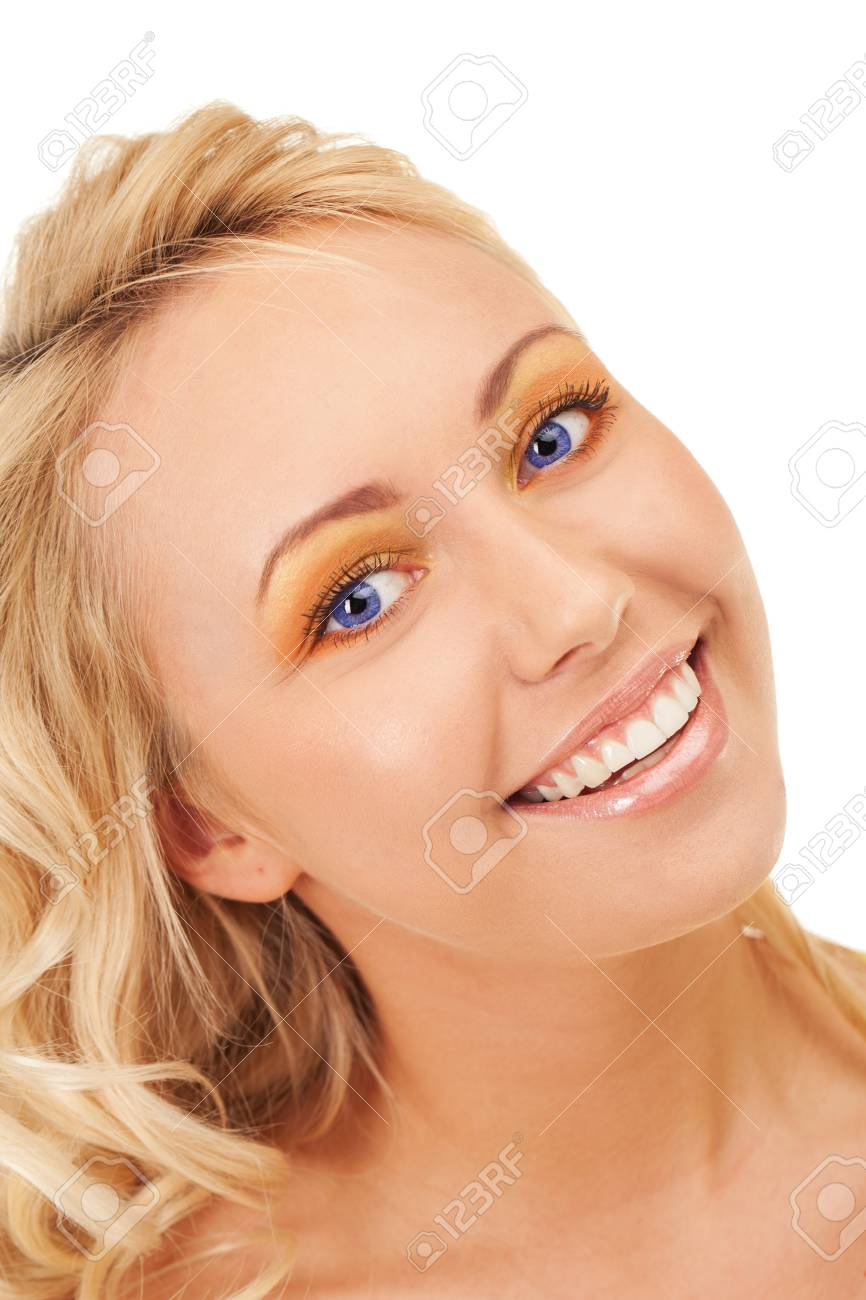 Happy smiling blond girl with blue eyes Stock Photo - 13224113