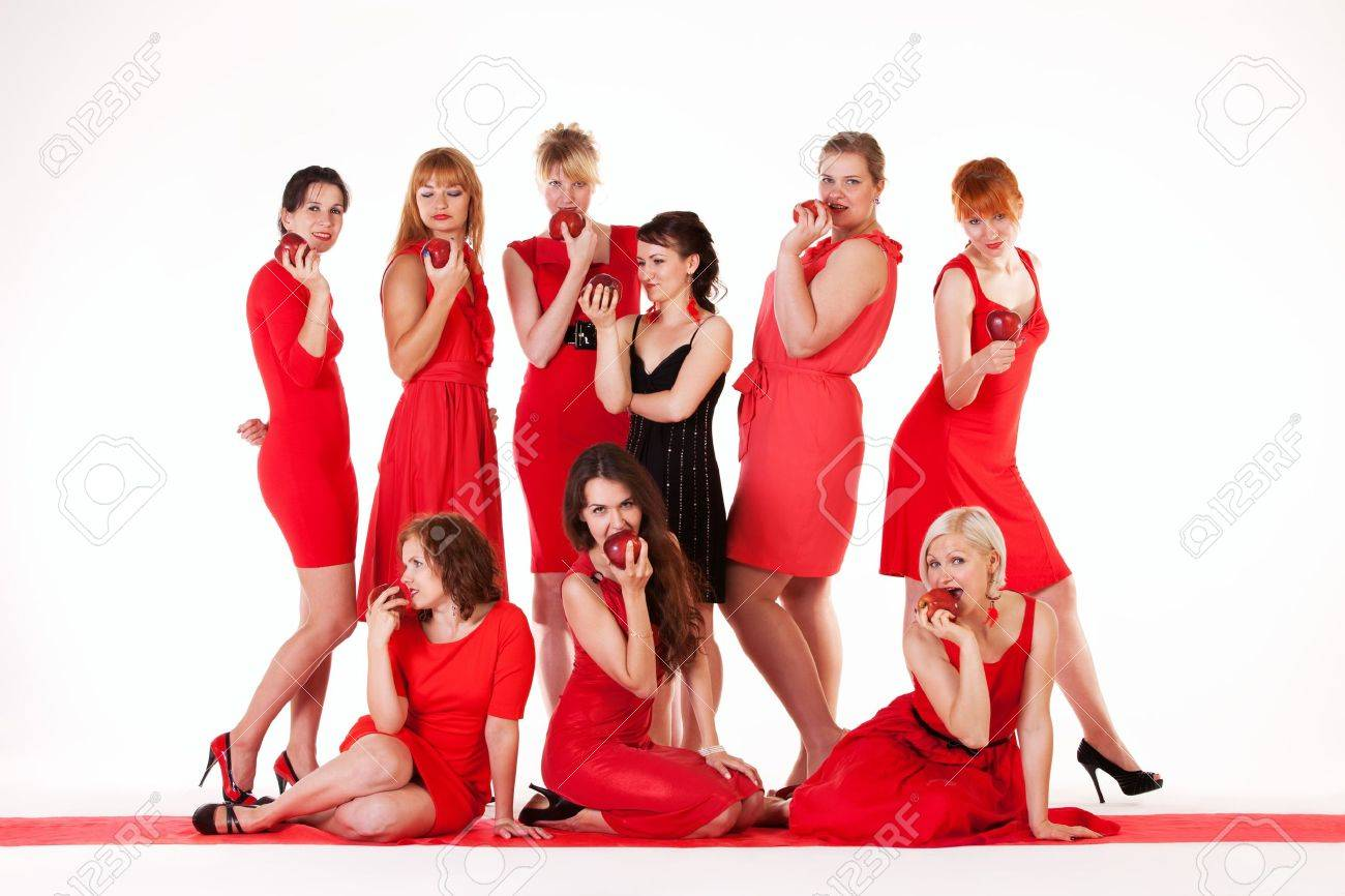 Ideas for hen party  let it be red Stock Photo - 15037810
