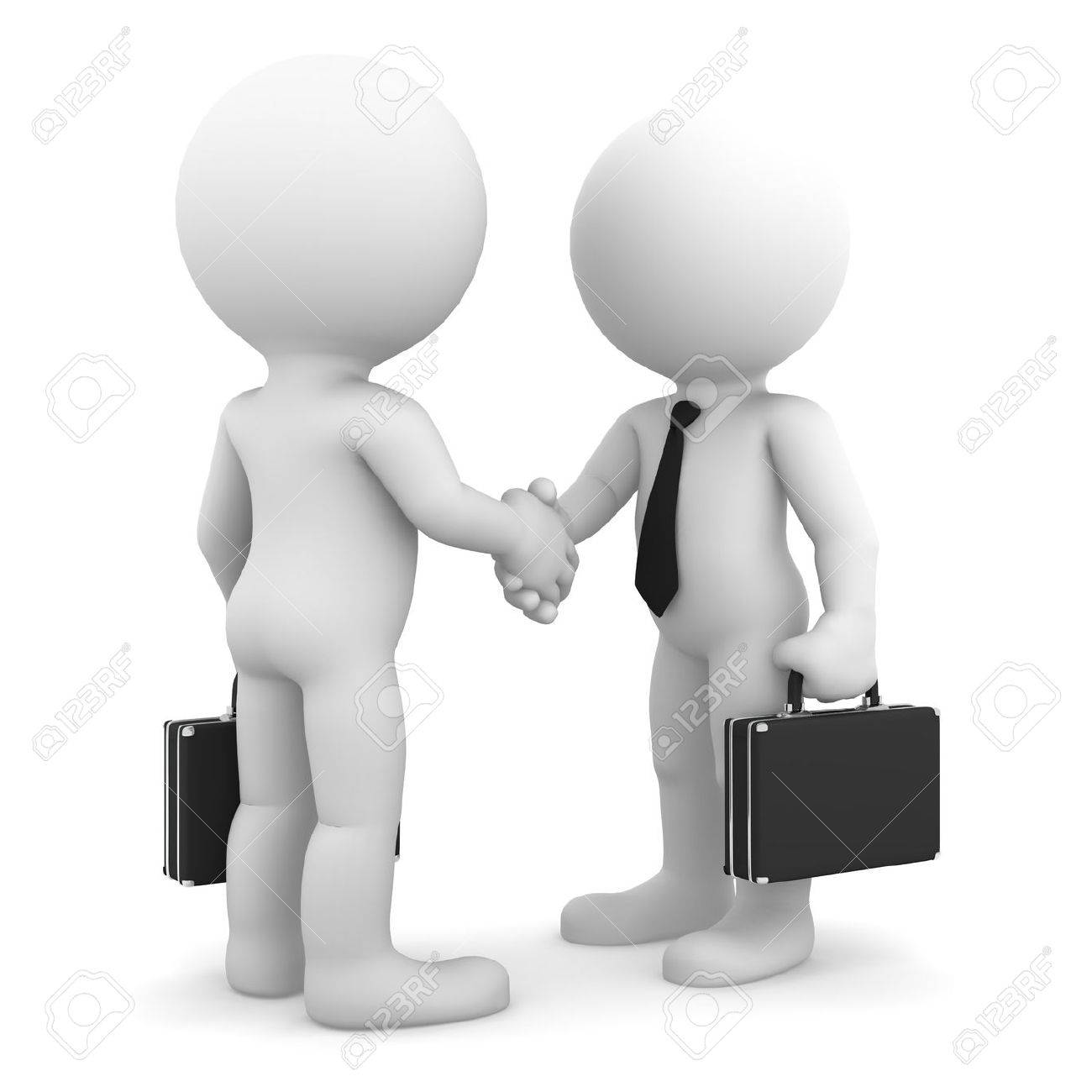 Business colleagues shaking hands  Isolated on white background Stock Photo - 13646592