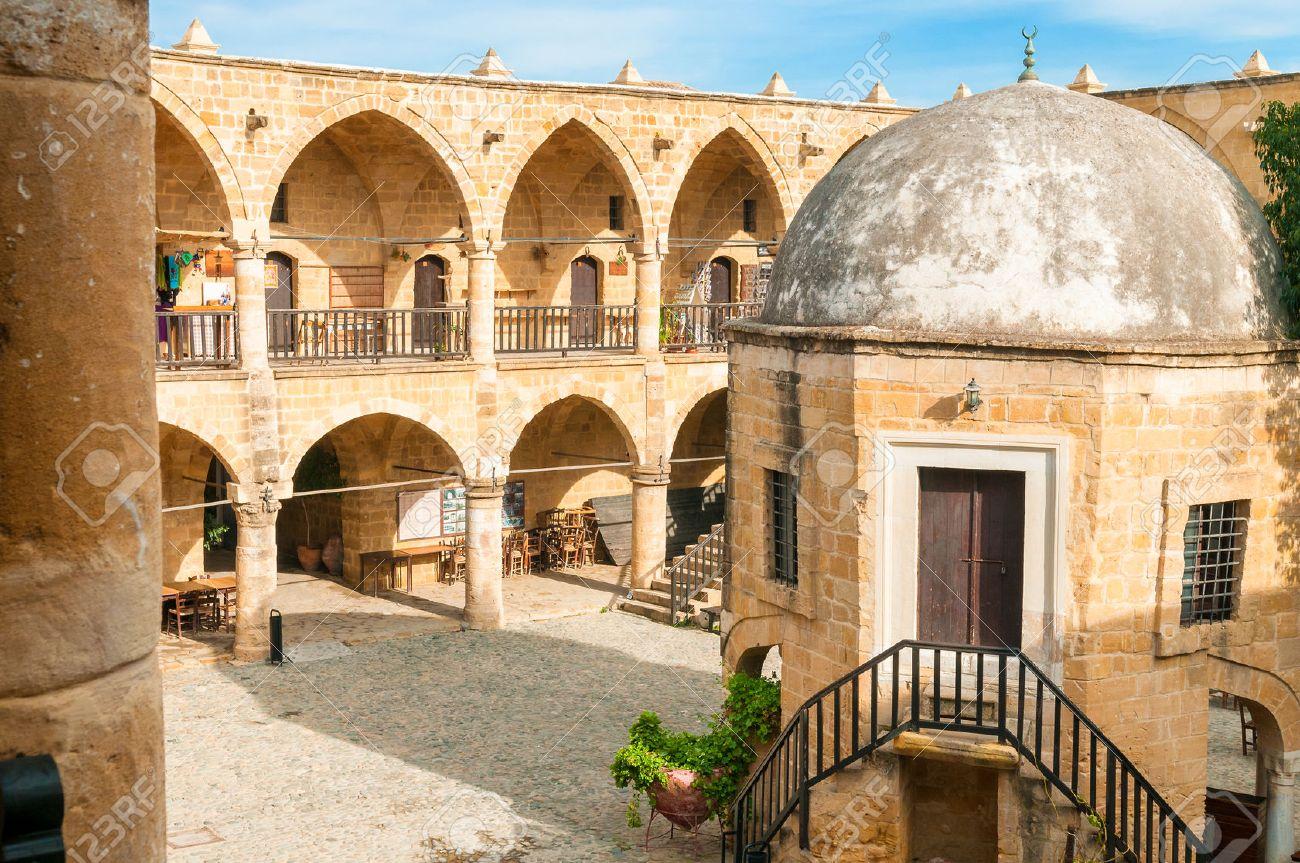 Buyuk Han  the Great Inn , largest caravansarai in Cyprus  Nicosia Standard-Bild - 28219084