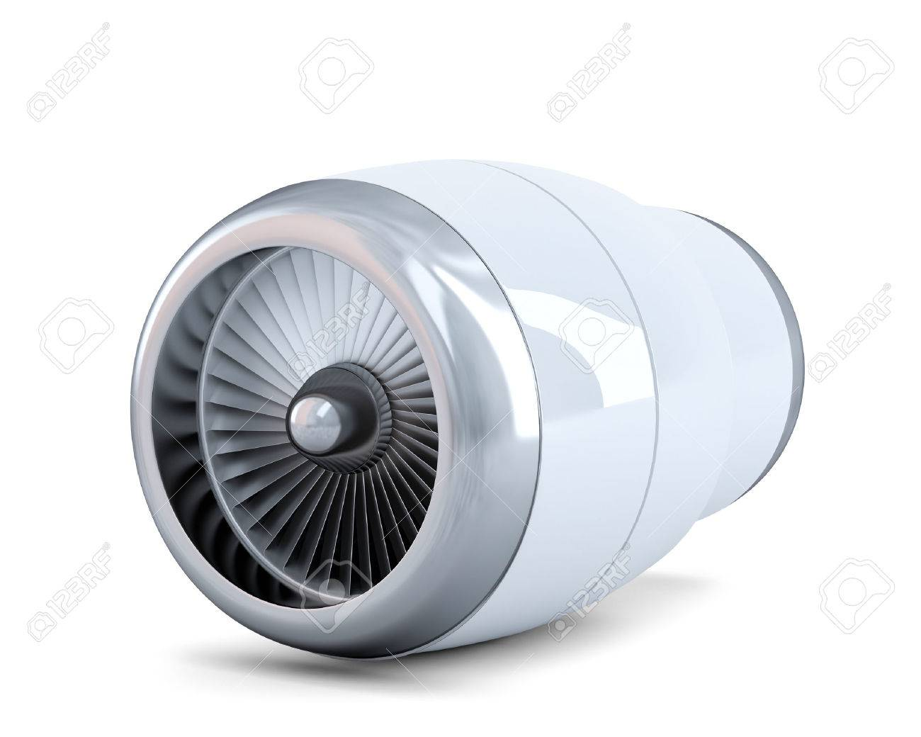 Jet engine. Isolated. Contains clipping path Standard-Bild - 28219203