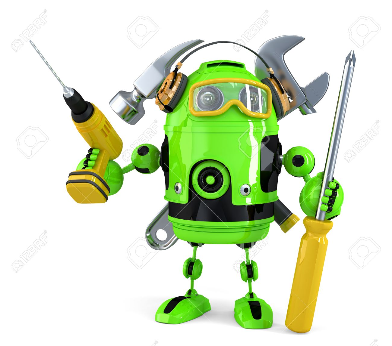 Construction robot. Technology concept.Isolated. Standard-Bild - 40577371
