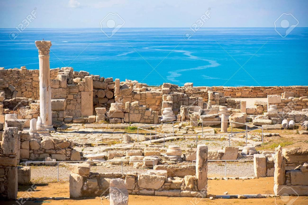 Ruins of ancient Kourion. Limassol District. Cyprus Standard-Bild - 40577812