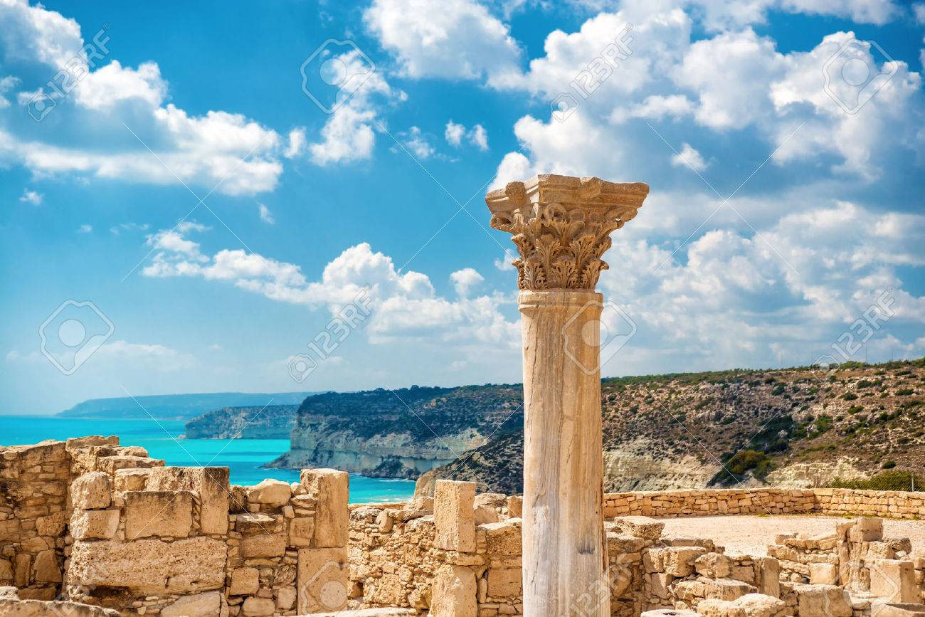 ?uins of ancient Kourion. Limassol District. Cyprus. Standard-Bild - 60805857