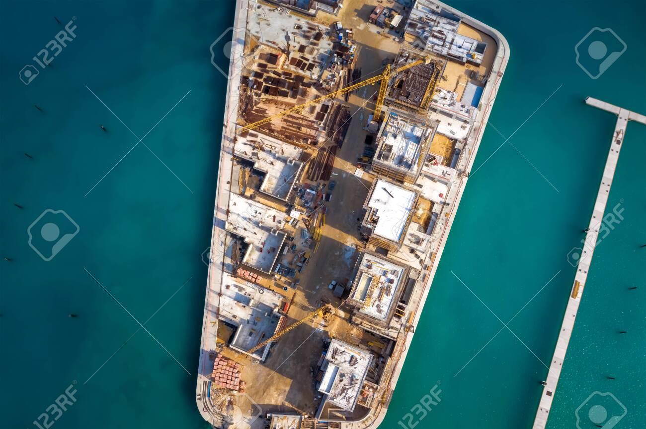 Top view of marina construction site, Ayia Napa, Cyprus - 150716338