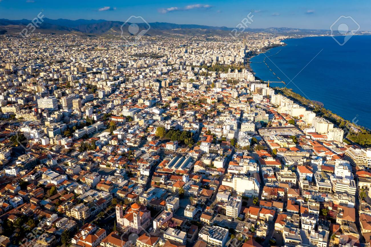 Aerial view of Limassol, Cyprus towards east - 150716611